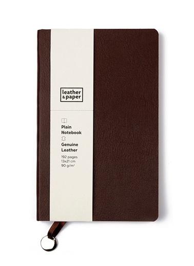 Leather & Paper Flotter Deri Defter 13x21 Kahve